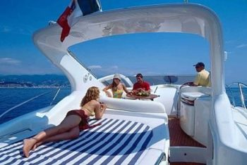 Allegro Aft Sun bed Hamble Powerboat Charters