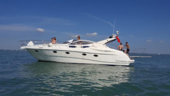 Allegro at Thorness Bay Hamble Powerboat Charters