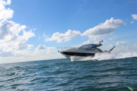 Endeavour at sea Hamble powerboat charters