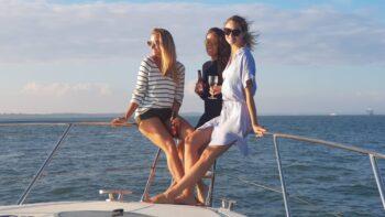 relaxing on board Allegro